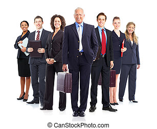Business people - Large group of business people Isolated...