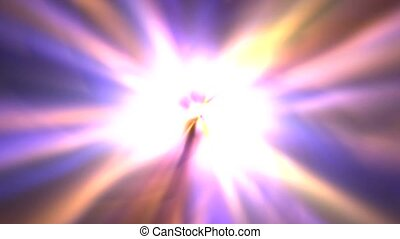 power rays laser and fire in space
