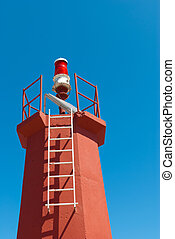 Solar powered lighthouse - Small lighthouse/beacon at a...