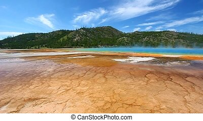 Grand Prismatic Spring -Yellowstone - Vivid colors of Grand...
