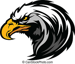 Graphic Head of an Eagle Mascot - Vector Eagle Head Mascot...