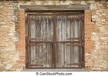 Old Rural Door - An Old rural stable door in McLaren Vale...