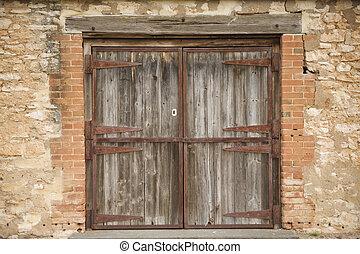 Old Rural Door - An Old rural stable door in McLaren Vale...