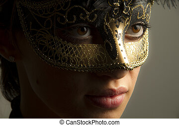 Woman with the mask