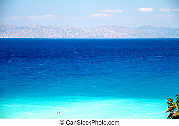 Clear turquoise water at Aegean seaside