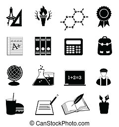 School and education icon set - Back to school and education...