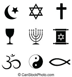 Religious symbols icons - Religious symbols around the world...