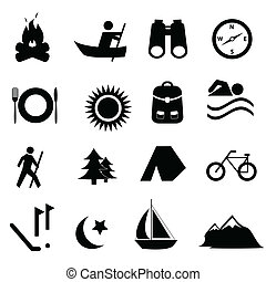 Leisure and recreation icons - Leisure, sports and...