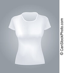 White women shirt vector object
