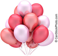 Pink party balloons romantic