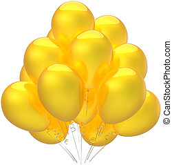 Yellow balloons party decoration - Birthday balloons party...