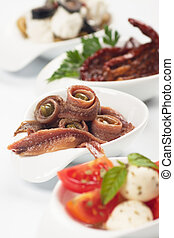 Anchovy rolls served as appetizer