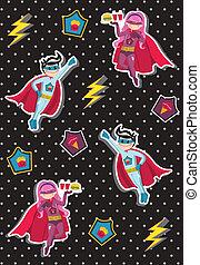 Cartoons superhero kids pattern - Superheroes kids floating...