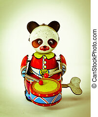toy - old music panda toy