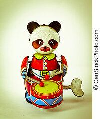 toy - old music panda toy