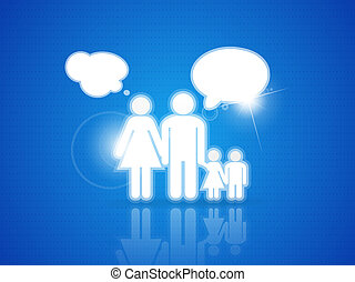 Family background - Vector illustration for your design