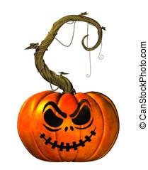Carved Jack O'Lantern Pumpkin