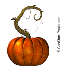 Great Pumpkin on vine - The great pumpkin on a twisting vine...