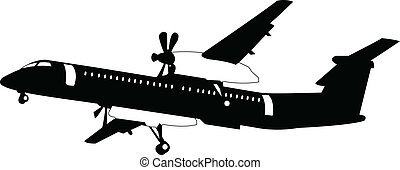 airplane - vector - illustration of airplane - vector