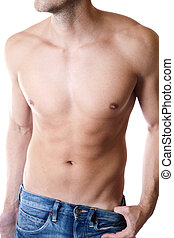 Defined male body - Young man with a defined body