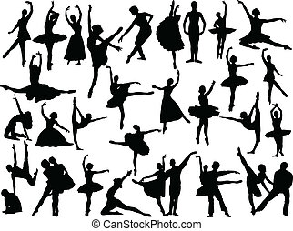 big ballet collection - vector - illustration of big ballet...