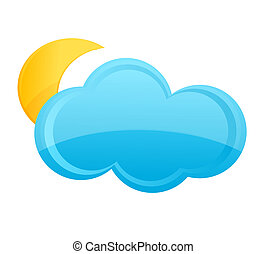 moon on the cloud weather symbol