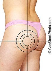 Cellulite and target - Skin staggered a cellulite and target