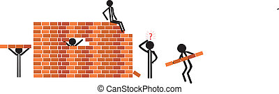 building a wall for sucess