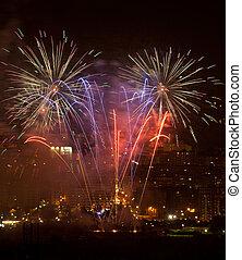 Fireworks, Bilbao, Bizkaia, Spain
