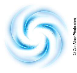 Blue vortex on white background for design
