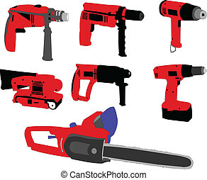 electric tools - vector - illustration of electric tools -...