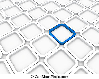 3d background area cube blue white structure