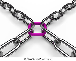 3d chain chrome purple
