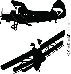 Illustration of two airplane