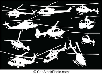Illustration of helicopters - Illustration of helicopters -...