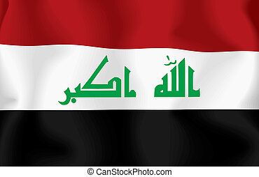 Iraq flag background. Illustration