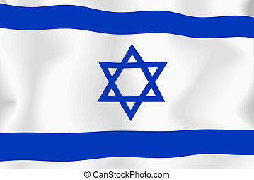 Israel - Isreael flag background