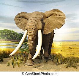 African Elephant - stuffed African Elephant