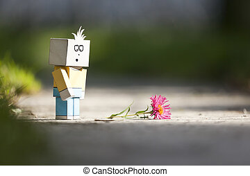 sad character - An image of a handmade sad character and a...