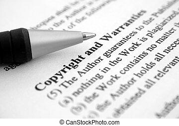 copyright, garanzie