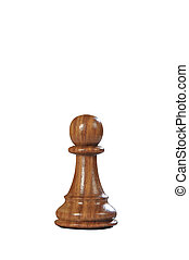 Wooden Chess: Pawn Black - Black Browne wooden pawn queen -...
