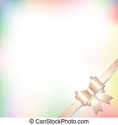 background with bow in pastel color