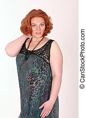 Trendy plus size model - Plus Size Model with red hair in...
