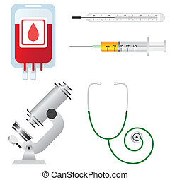 Medical equipment - Set of medical equipment and tools on...