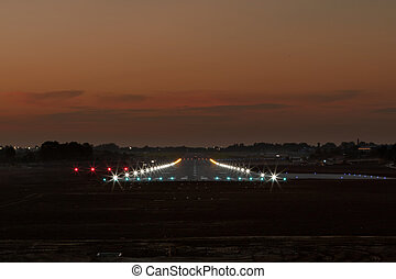 landing strip - Photo of landing strip in the evening