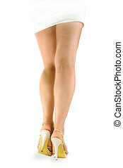 Legs of girl with shoes