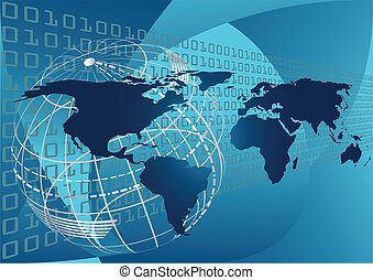 Abstract Global Concept - An abstract vector illustration of...