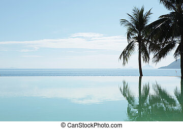 Paradise - pool overlooking beachfront view at Nha Trang Bay...