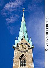 Fraumunster Abbey, Zurich  - Fraumunster abbey of Zurich