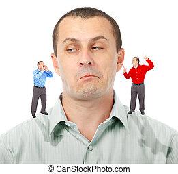 Listening to elf-businessmen - Businessman undecided which...